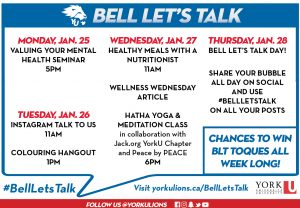 Hatha Yoga & Meditation Class - Bell Let's Talk Event @ Live on Zoom