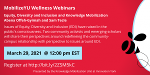 Equity, Diversity and Inclusion and Knowledge Mobilization @ Online