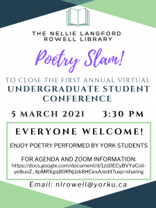 Nellie Library Poetry Slam @ Zoom